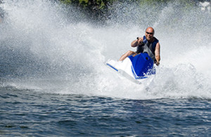 action shot of seadoo with great waterspray