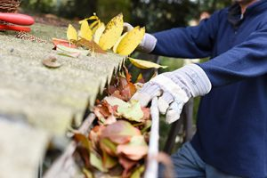 Homeowner performs gutter cleaning Manalapan NJ, gutter services Manalapan